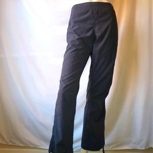 bcg athletic lounge pants bootcut gray tie bottoms